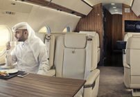 القطرية لرجال الأعمال تعرض طائرة G650ER في دبي